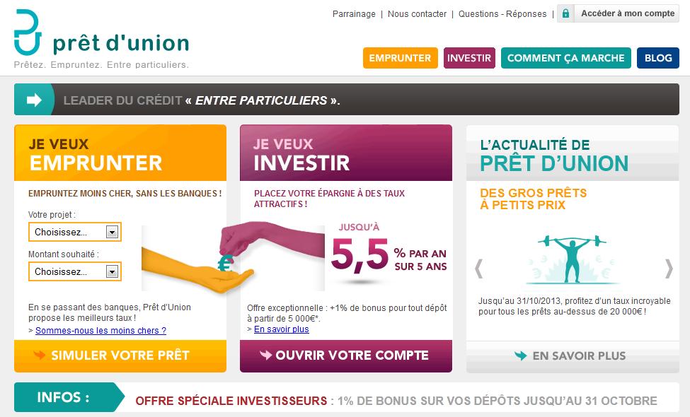 extrait du site pret-dunion.fr