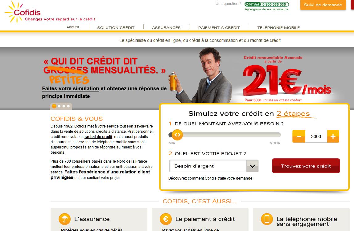extrait du site www.cofidis.fr
