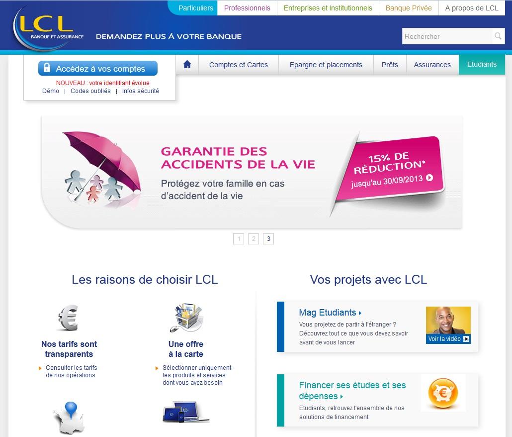 Extrait du site www.lcl.fr
