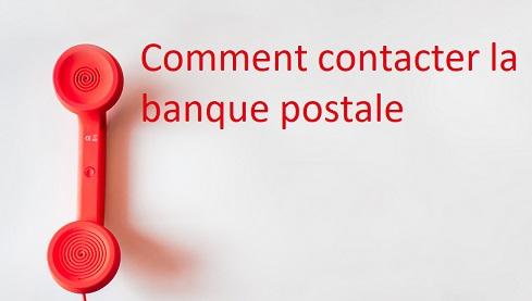 joindre banque postale
