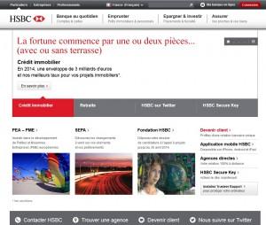 la page d'accueil du site www.hsbc.fr